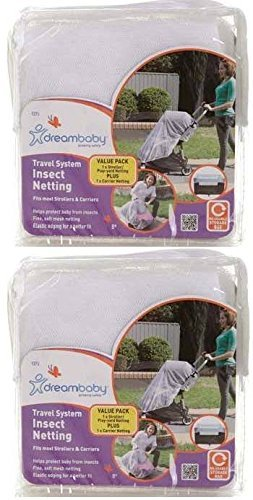 Dreambaby Insect Bug Netting for Strollers, Play Yards, Carriers, and Travel Systems (Travel System, 2 Pack)