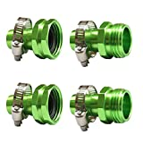 PLG Garden Hose Repair Connector with Clamps, Green,2 Males + 2 Females