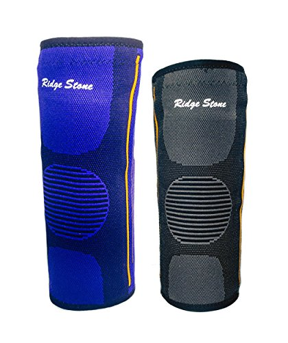 Premium Knee Brace Compression Sleeve Support For Running  Jogging  Join Pain Relief  Arthritis  Meniscus Tear And Injury Recovery  Fits For Men And Women  By Ridge Stone  Black  Extra Large