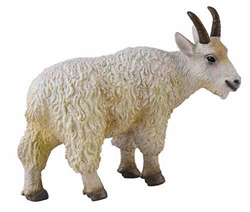 CollectA Woodlands Whie Mountain Goat Nanny Toy Figure - Authentic Hand Painted Model