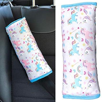 HECKBO Coussin de voiture licorne Unicorn pour enfants - lavable en machine  - super doux - c46b9db8edb