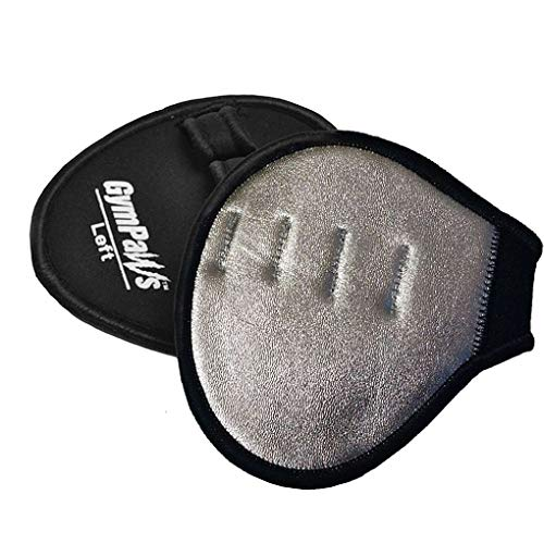 GymPaws Fitness Gift - Silver Metallic Gym Gloves - Leather Weightlifting Grips