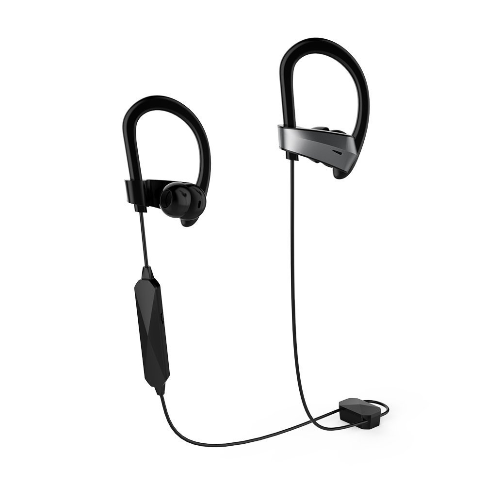 Active Noise Cancelling Bluetooth Headphones , Meidong HE8K Wireless Earbuds in Ear Sports Earphones with 12 Hours Battery AptX Stereo Sound with Built in Microphones and Hard Travel Case for Workout