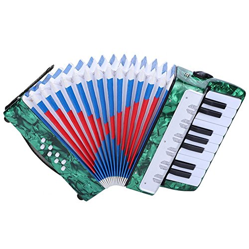 Accordion for kids Children, 17 Key 8 Bass Mini Small Piano Accordions  Educational Musical Instrument Rhythm Toys for Amateur Beginners Students  (Red,