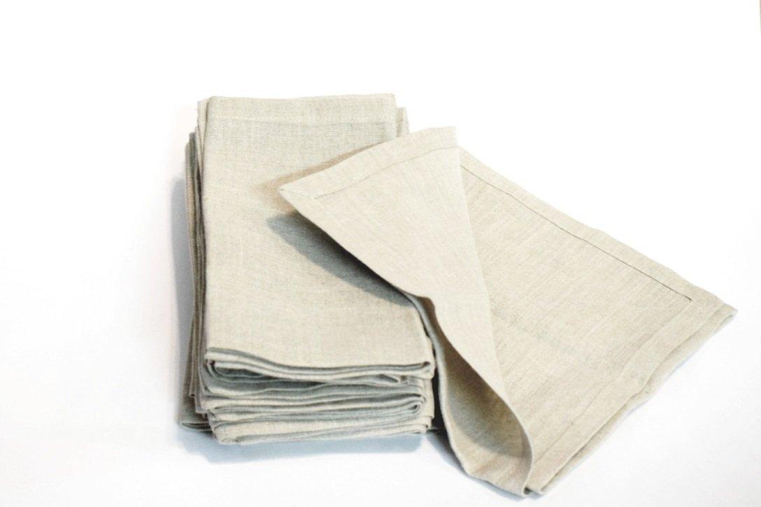 100 % Natural Linen Napkins Set of 12