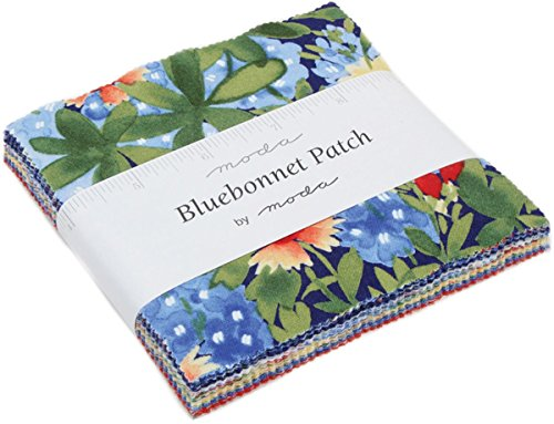 - Bluebonnet Patch Charm Pack By Moda; 42-5