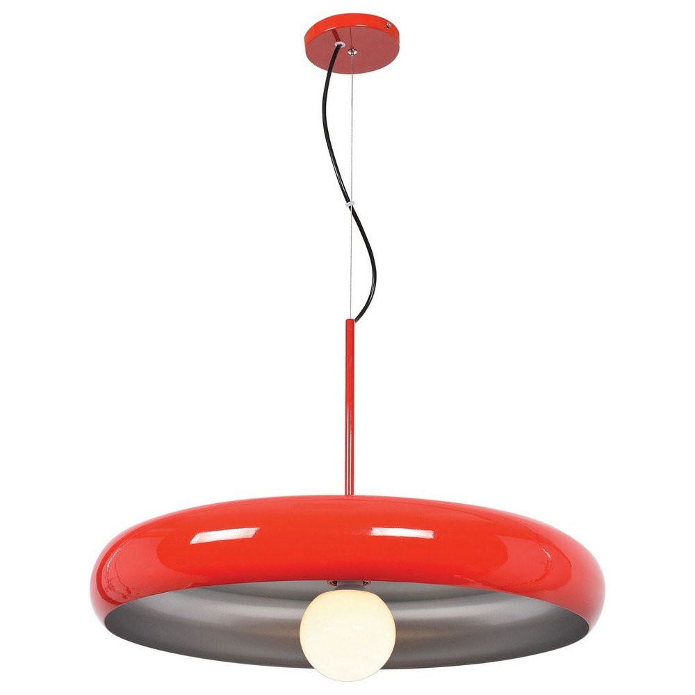 Access Lighting 23883LEDDLP-RED/SILV Bistro Hanging Pendant, Red and Silver