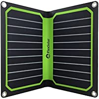 FlexSolar 11W/5V Foldable Solar Powered Charger Portable Solar Panel with USB Output for iPhone Samsung Electronic Devices Green