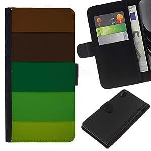 KingStore / Leather Etui en cuir / Sony Xperia Z2 D6502 / Marrón Pastel Paleta Tones