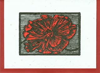 product image for Grow A Note® Woodcut Poppy Letterpress Cards 4-pack