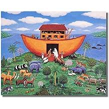 Noahs Ark Animals Kids Room Religious Wall Picture 16x20 Art Print #1