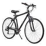 XDS Men's Cross 200 21-Speed Hybrid Bicycle, 52cm, Jet Black