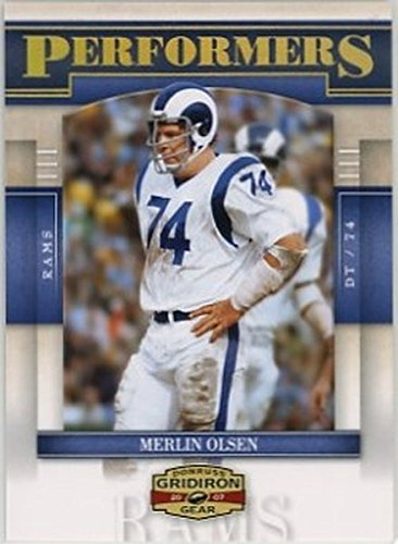 - 2007 Donruss Gridiron Gear Performers Gold Holofoil #27 Merlin Olsen NM-MT /100 Rams