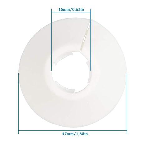 BUYGOO 20 Piezas embellecedor radiador plástico para tuberías Cubiertas para tuberías de 15 mm de diámetro (Blancas): Amazon.es: Electrónica