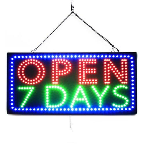 Large LED Open Sign