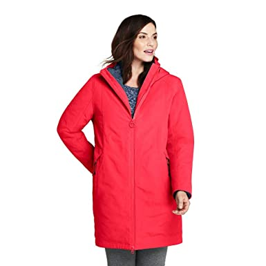 450e914a80 Lands  End Women s Plus Size 3 in 1 Long Squall Coat at Amazon Women s  Coats Shop