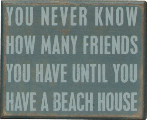 Primitives by Kathy 16355 Beach-Inspired Box Sign, 5