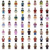 Real Minifigures Set - 56pcs Mini Community Building Bricks People Kids Party to Build More Fun,Boys Girls' Toys 100% Compatible