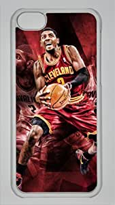NBA Cleveland Cavaliers #2 Kyrie Irving Custom PC Transparent Case for iPhone 5C by icasepersonalized