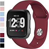 Hamile Soft Bands Compatible for Fitbit Versa, Workout-Friendly Watch Band Replacement Strap Wristband for Fitbit Versa,Women Men Large Small