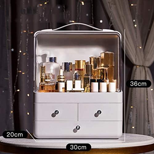 化粧品収納ボックス 防塵仕上げボックス引き出し型棚ホームスキンケア化粧品収納ボックスアクリルホワイト DWWSP