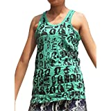 Sure Vintage Crumpled Ladies Sleeveless Tank Top Mosaic Bob Marley Print