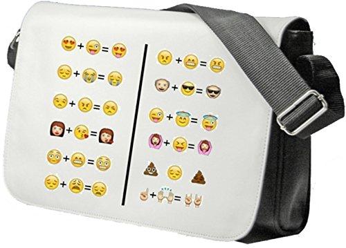 """Schultertasche """"Smiley und Smiley ist gleich Emoji Lustig und Arogant"""" Schultasche, Sidebag, Handtasche, Sporttasche, Fitness, Rucksack, Emoji, Smiley"""