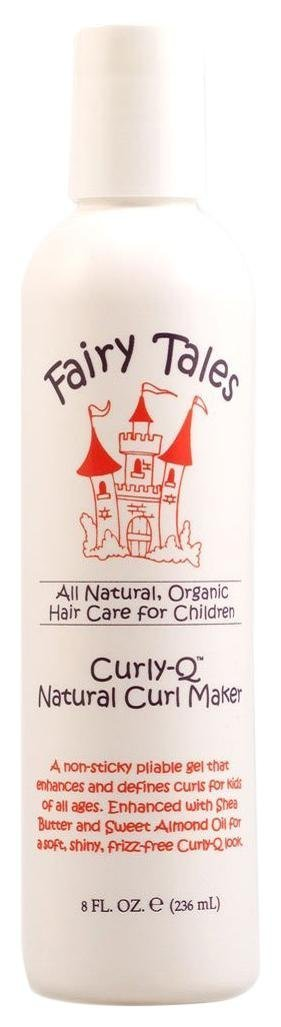Curly-Q Natural Curl Maker Gel by Fairy Tales for Kids - 8 oz Gel by Fairy Tales