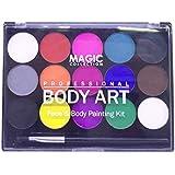 TOOGOO Pigmentos de pintura de cuerpo soluble en agua Copa mundial Kit de pintura facial profesional 15 colores para la…