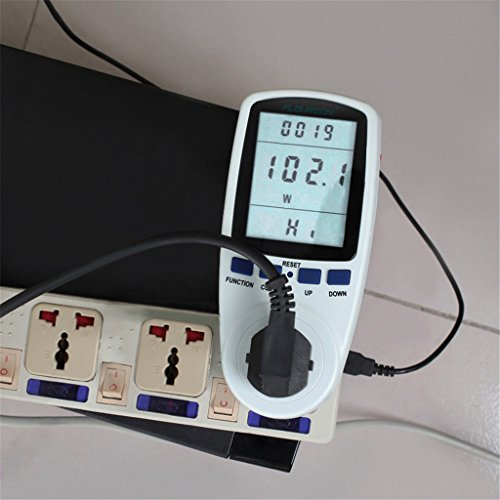 Outlet Wattage Meter : Ts a plug power meter energy voltage amps electricity