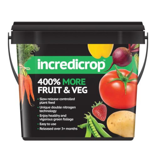 Incredicrop Plant Fertiliser Controlled Slow Release 750g - 400% More Fruit & Veg Thompson & Morgan