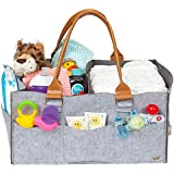Diaper Organizer Caddy - Water Resistant Lining | 2 Large Zipper Pockets