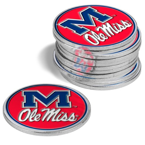 Mississippi Rebels Golf Ball Markers (4 Pack)   B00DOPWFGK