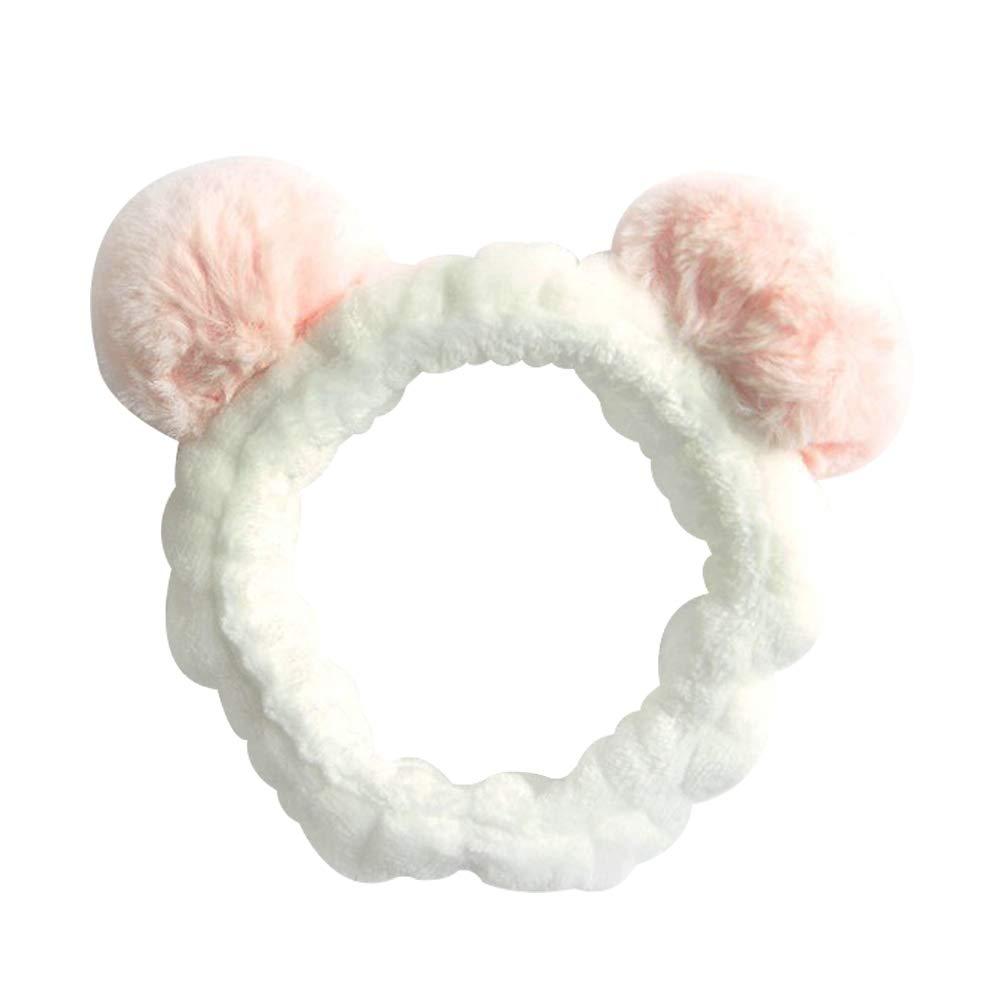Masque pour le Visage Pretty Comy Bandeau de Panda pour Femmes Spa Lavage du Visage Cosplay Coiffant pour la Douche Joli Bandeau Elastique pour le Maquillage F/ête /À la Mode
