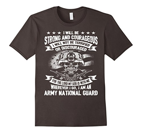 Mens Strong And Courageous Army National Guard Tshirt XL Asphalt Mens National Guard