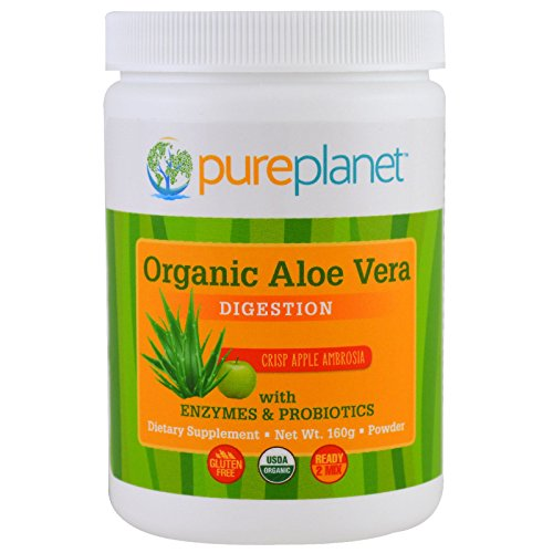 Pure Planet Organic Aloe Vera Digestion Crisp Apple Ambrosia 160 g (Syrup Vera Aloe)