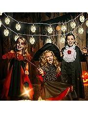Jodsen Lichtsnoer voor Halloween, 3 m, 20 leds, voor herfst en Halloween, voor binnen en buiten, werkt op batterijen, waterdicht, ideale decoratie voor Halloween, party, tuin, festival, decoratie