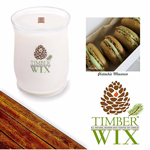 Country Jar Timber Wix Pistachio Macaron Scented Wood Wick Soy Candle (14 oz.) / 20 Percent of 3 or More Sale!