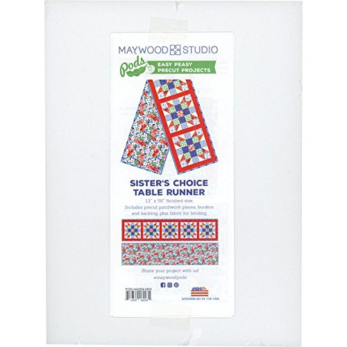 Kim's Cause Collection Hi-De-Ho Sister's Choice Table Runner Pod Quilt Kit Maywood Studio