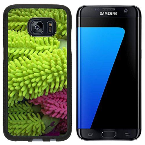 MSD Premium Samsung Galaxy S7 Edge Aluminum Backplate Bumper Snap Case IMAGE ID: 29299821 Bright green color rugs hanging (Samsung Galaxy Rug By)