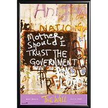 Pink Floyd - Berlin Wall 24x36 Dry Mount Poster Matte Back Wood Framed