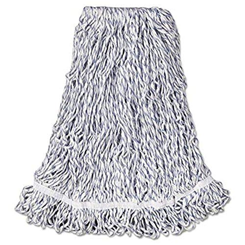 - Rubbermaid Commercial 24 OZ Web Foot Finish Wet Mop, 1 IN Headband, White, (FGA41306WH00)