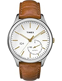 Timex Men's TW2P94700L3 Fashion IQ+ Move White Dial with Tan Leather Strap Watch