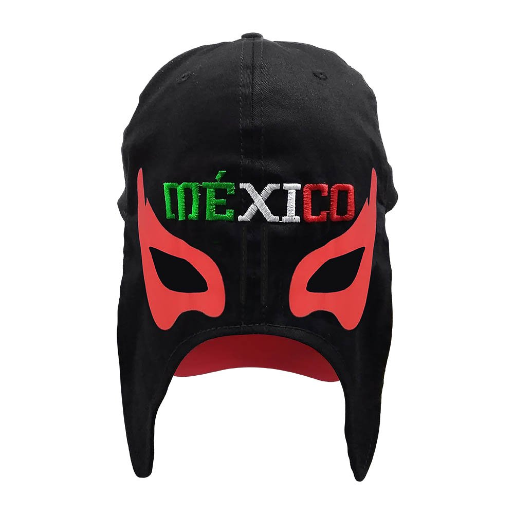 Amazon.com: Mexico Gorra Mascara de Futbol. Mexico Soccer hat. Mexican Lucha Libre Mask Cap (Black): Sports & Outdoors