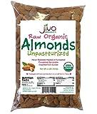 Jiva Organics Raw Unpasteurized Organic Almonds (Sproutable) 2 Pound Bag