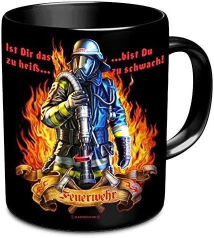 Feuerwehr Tasse Ist Dir Das Zu Heiß Dann Bist Du Zu Schwach Schwarz Aus Keramik Amazon De Küche Haushalt