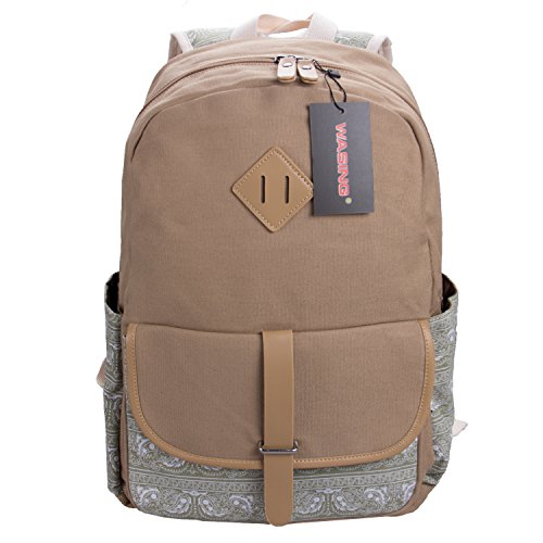 WASING Backpack Lightweight Backpacks WS RS 1PKhaki