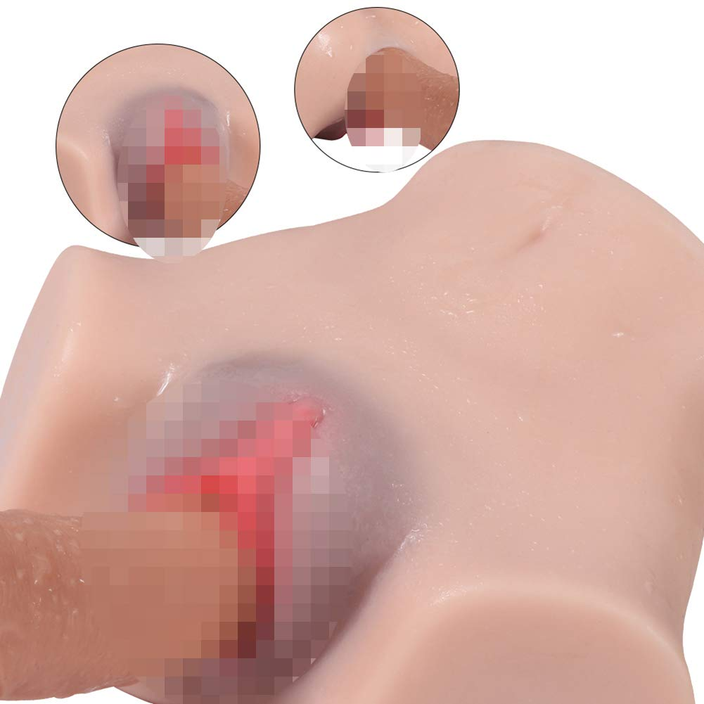MRRTIME 3D Double Hole Ass Sexy Breasts, Realistic Channel, Super stimulating Orgasm, New Experience, More Like a Real Person, Waterproof, Secret delivery by MRRTIME