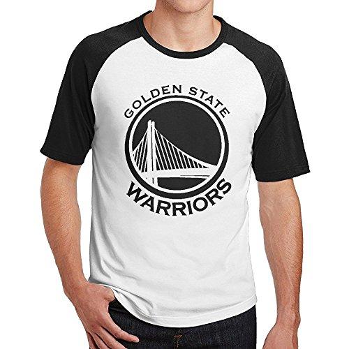Short Raglan Golden State Warriors Long Sleeve Baseball Uniform Man's