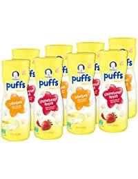 Gerber Graduates Puffs, Banana and Strawberry Apple, 8 Count BOBEBE Online Baby Store From New York to Miami and Los Angeles